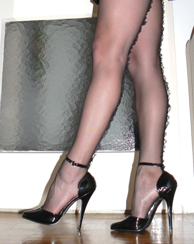 High heels and hose